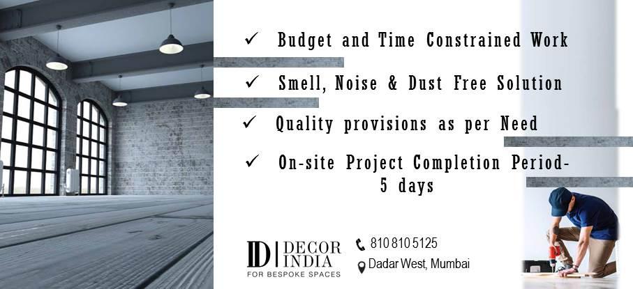 Home renovation by Decor India Mumbai